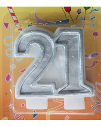 21 silver candle 21st birthday