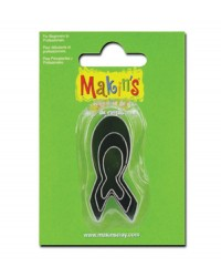 Makins Awareness ribbon set 3 mini cutters