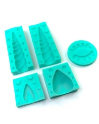 Unicorn silicone mould set 5 Horn ears and eyes