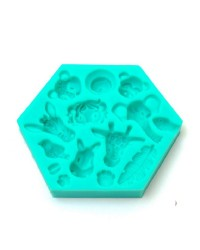 Jungle Safari or Zoo Animal silicone mould