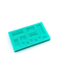 Train Caboose carriages silicone mould