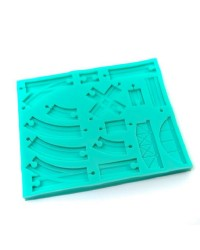 Train Tracks silicone mould