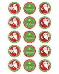 Design Sheet edible image Santa and Merry Christmas
