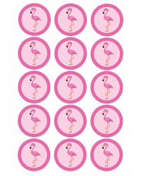Design Sheet edible image Pink Flamingo