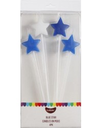 Star pick candles Long Blue