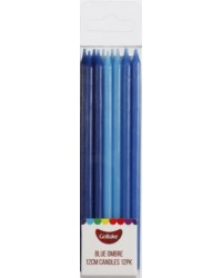12cm tall ombre candles BLUE (12)