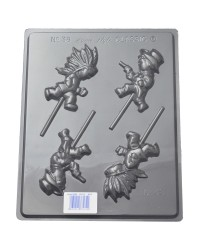 Cowboys and Indians lollipop chocolate mould