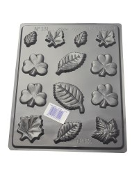Shamrocks and leaves chocolate mould