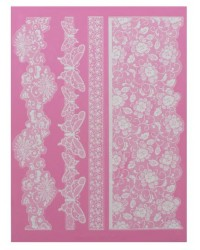 Cake lace Claire Bowman mat Madame Butterfly