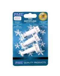 PME Set of 3 mini snowflake plunger ejector cutters
