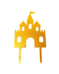 Gold Princess or Knight castle cake topper