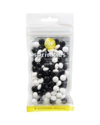 Soccer ball shaped sprinkles 56gr 2oz pack