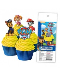 Paw Patrol pack 16 wafer paper cupcake toppers
