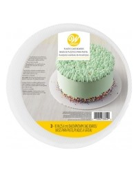 Reusable white plastic cake boards pack of 3 10 inch diameter