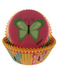 Butterfly standard cupcake papers Pack of 75