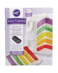Easy Layers 6 inch Cake Pan Set of 5 (great for rainbow cakes)