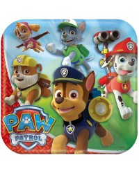 Paw Patrol party Dinner plates square (8)