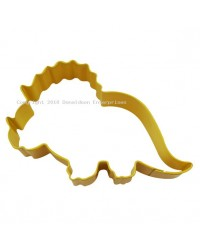 Triceratops yellow metal cute dinosaur cookie cutter