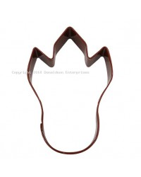 Dinosaur Footprint brown metal cookie cutter