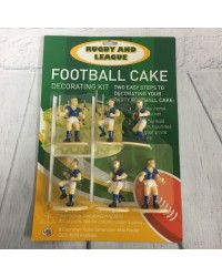 Rugby or league cake topper set Black Jerseys