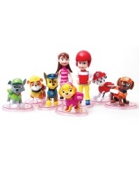 Paw patrol figurines cake topper set 8
