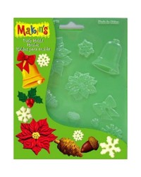 Makins push mould Christmas nature themes