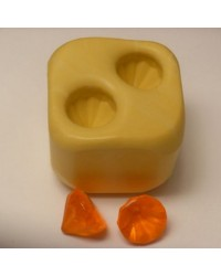 Double diamond gem silicone mould for isomalt Simi Cakes