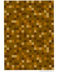 A4 Pixellated small brown squares edible image