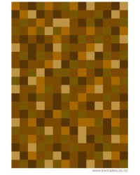 A4 Pixellated squares Medium brown edible image