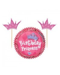 image: Princess cupcake papers & picks combo