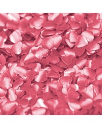 Edible glitter shapes HEARTS pink red