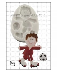 image: Funky Footballer silicone mould
