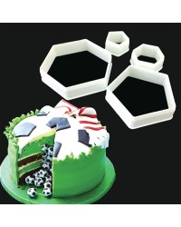 Soccer Hexagon and Pentagon cookie or fondant cutter set