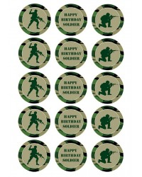 Cupcake edible images (15) Army camouflage soldiers