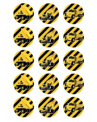 Design Sheet edible image construction vehicles
