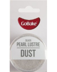 GoBake Pearl Lustre Dust Silver Dusting Powder