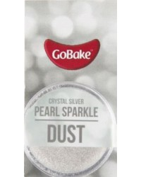 GoBake Sparkle Lustre Dust Crystal Silver Dusting Powder
