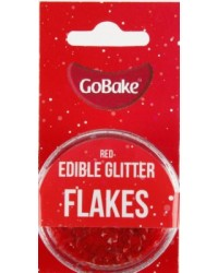 GoBake Edible Glitter Flakes Red