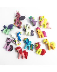 My Little Pony plastic figurine topper set
