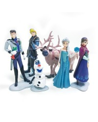 Disney Frozen cake topper plastic figurine set