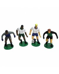 Soccer Players set 4 Figurines toppers