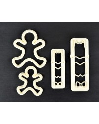 Fmm Gingerbread boy or man people or family Tappit cutter set