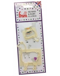 Fmm Mummy and Baby Llama icing cutter Set