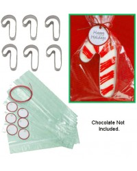 Candy Cane 6 cookie cutter gift giving set