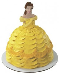 image: Belle Disney princess doll pick topper (Beauty and the Beast)