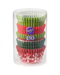 Christmas colours mini baking cup cupcake papers 150 pack