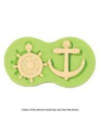 Anchor and Helm nautical silicone mould