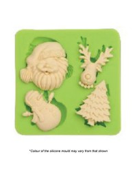 Christmas Favourites silicone mould Santa Reindeer Snowman Tree