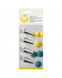 Star Shell and dot standard piping tip nozzle set
