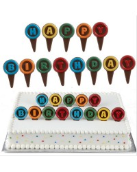 Happy Birthday chocopick chocolate mould